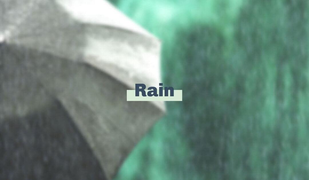 We're thankful for rain